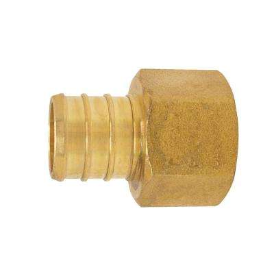 PEX Barb 3/4 in. x 1/2 in. Brass Female Pipe Thread Adapter