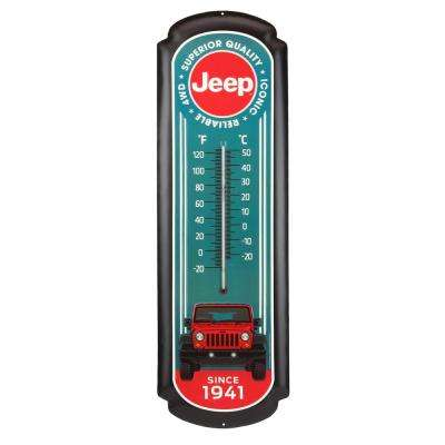 Jeep Red Oversized Thermometer Decorative Sign
