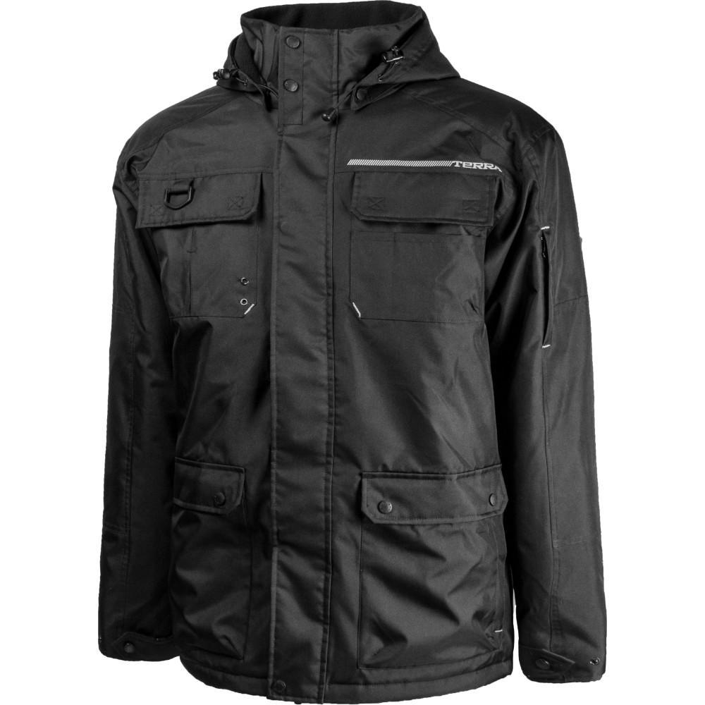 Men's Medium Black Bolt Lined High Quality Supreme Winter Hooded Jacket