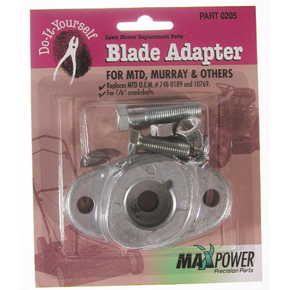 Maxpower Blades Sharpeners Replacement Engines Parts The Murray Lawn Tractor Wiring Harness Blade Adapter Kit For Mtd Mower
