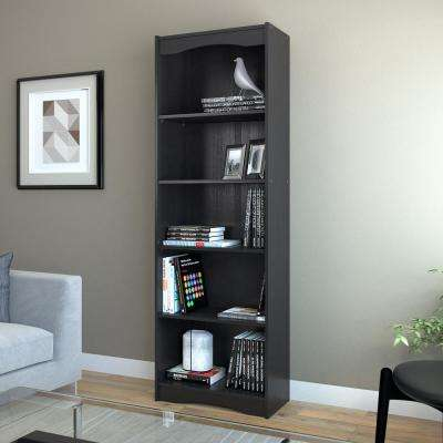 Hawthorn 72 in. Midnight Black Tall Bookcase