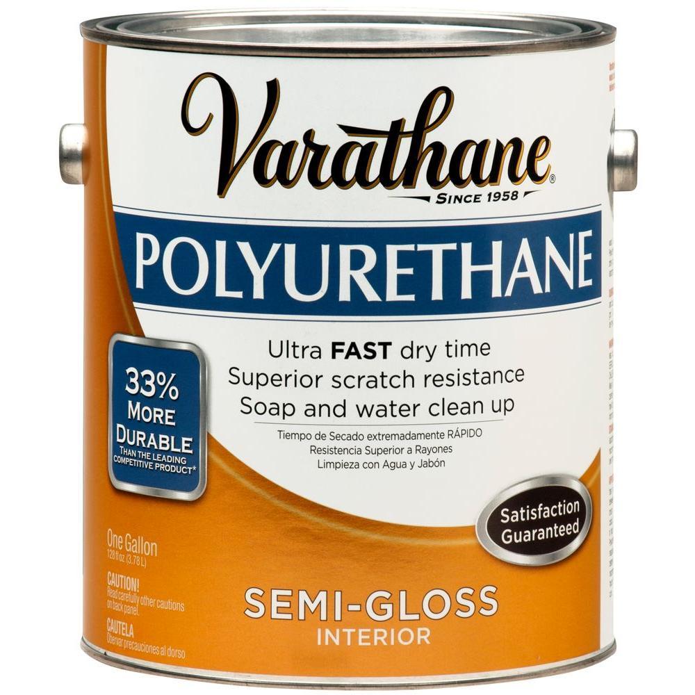 Varathane 1 gal. Amber Semi-Gloss Interior Polyurethane