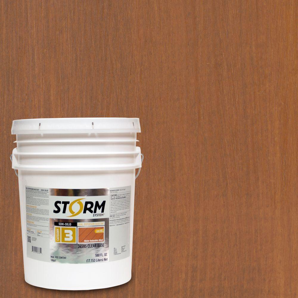 Storm System 5 gal. Teak Exterior Semi-Solid Dual Dispersion Wood Finish