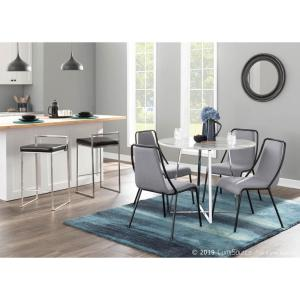 Lumisource Katana Contemporary Dining Chairs in Black Metal ...
