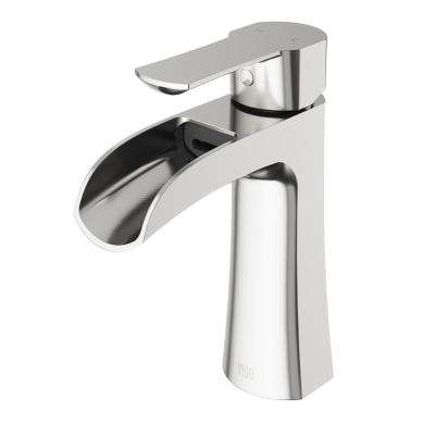 Paloma Single Hole Single Handle Bathroom Faucet In Brushed Nickel
