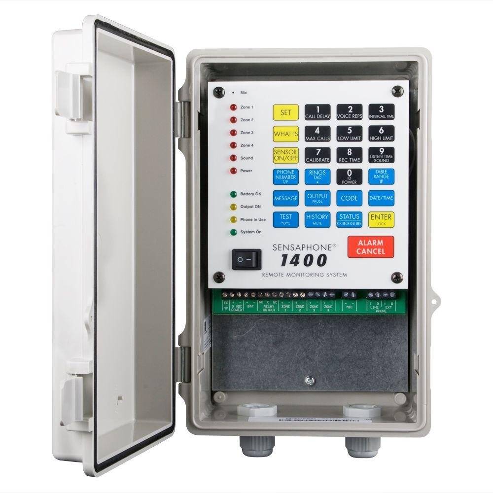 1400 Series 4 Channel Remote Monitoring System with Solid Door