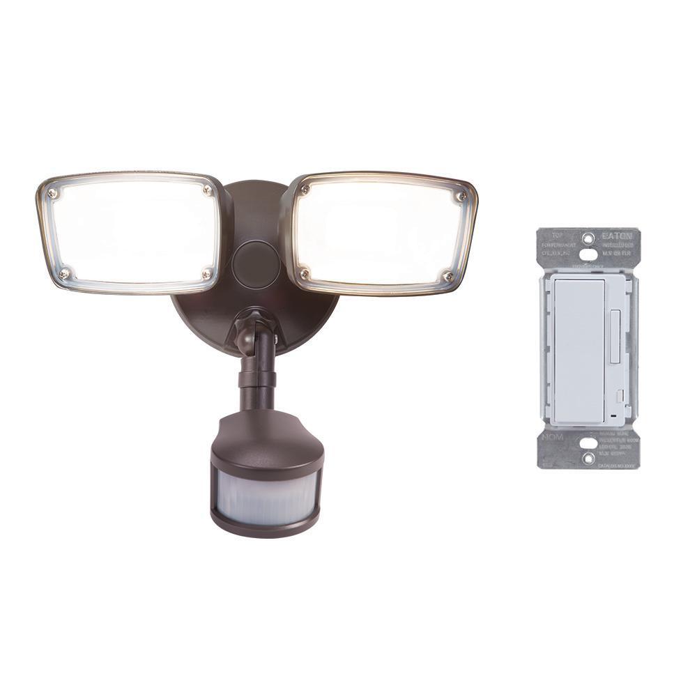Halo 180-Degree Bronze Smart Bluetooth Motion Activated Outdoor Integrated LED Flood Light with In-Wall Accessory Dimmer was $152.6 now $99.97 (34.0% off)