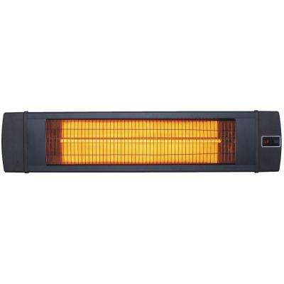 34.6 in. 1500-Watt Infrared Electric Patio Heater with Remote Control in Black