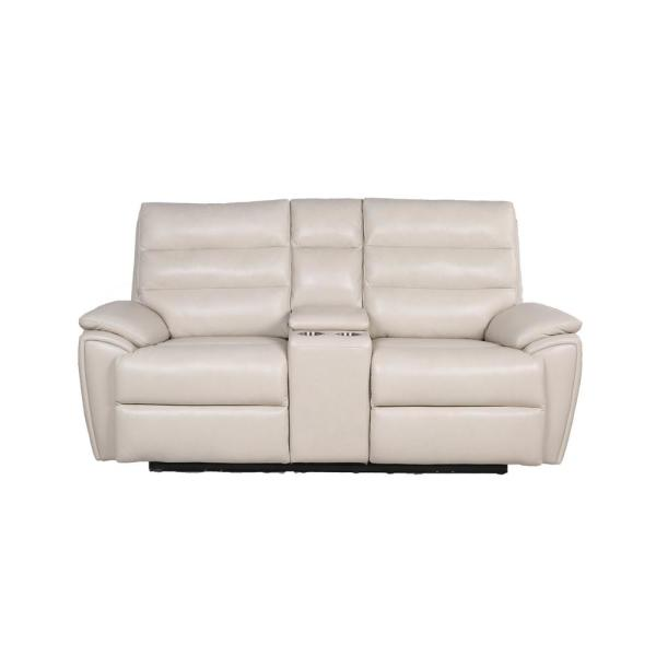 Duval Ivory 38.5 in. Power Reclining Loveseat
