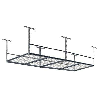 28 in. H x 96 in. W x 48 in. D  Adjustable Ceiling Mount Storage Rack