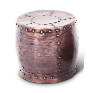 HomeDepot.com deals on Steve Silver Company Cooper Antique Copper Round End Table