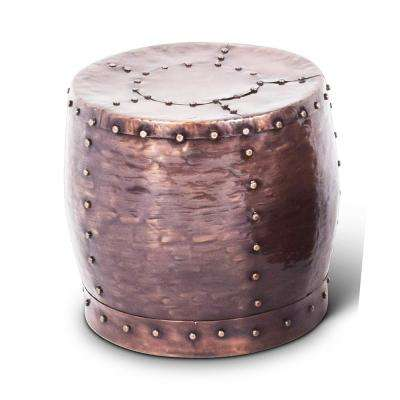 Cooper Antique Copper Round End Table