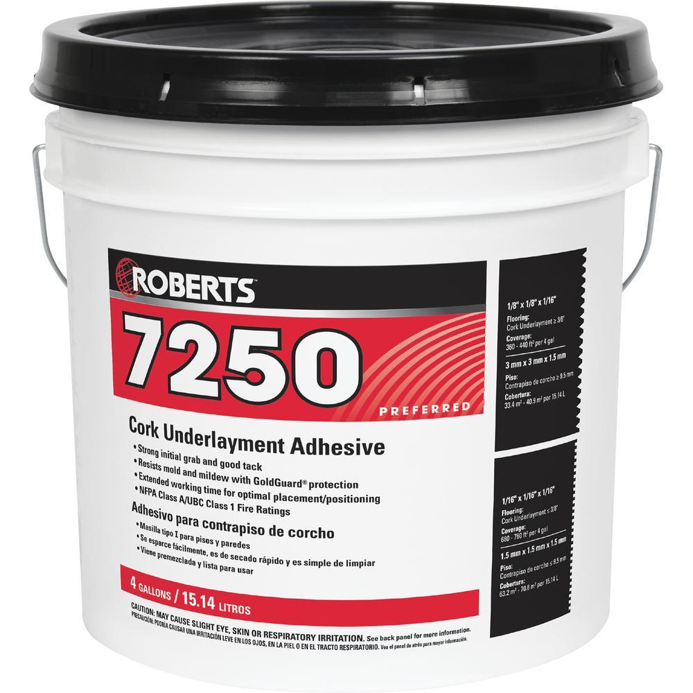 7250 4 Gal. Pro-Grade Cork Underlayment Adhesive