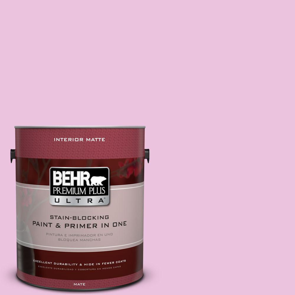 BEHR Premium Plus Ultra 1 gal. #680A-2 Sugar Sweet Flat/Matte Interior Paint