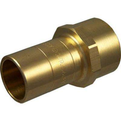 1 in. Brass Copper Tube Size x Female Pipe Thread Adapter