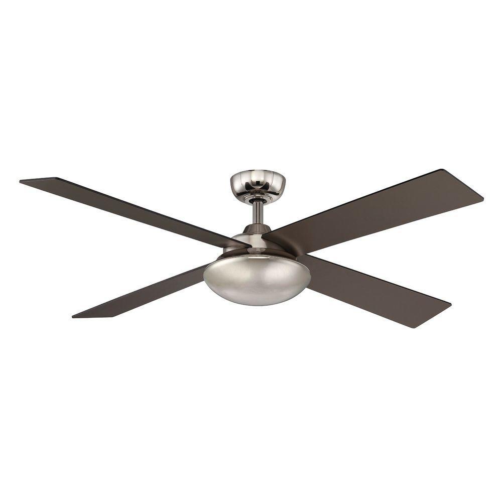 Hampton Bay Spoleto II 52 in. Indoor Liquid Nickel Ceiling Fan with Wall Control