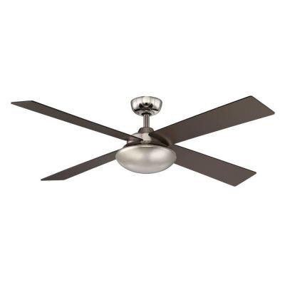Spoleto II 52 in. Indoor Liquid Nickel Ceiling Fan with Wall Control