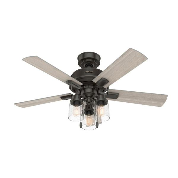 Hartland 44 in. LED Indoor Noble Bronze Ceiling Fan with Light Kit