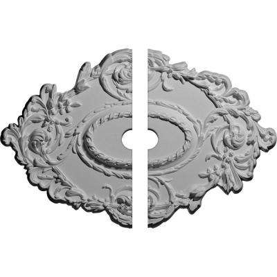 30-3/8 in. W x 20-3/4 in. H x 1 in. P Lincoln Ceiling Medallion (2-Piece)