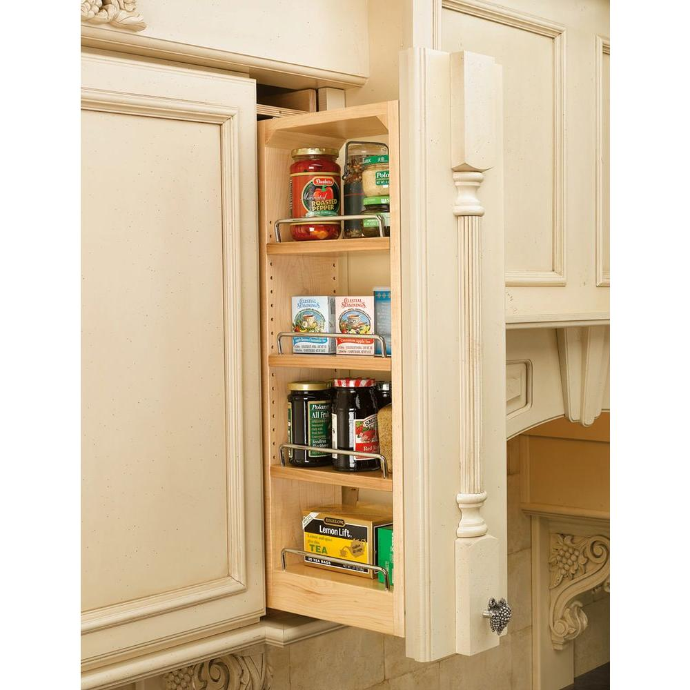 Medium image of rev a shelf 42 in  h x 6 in  w x 11 13 in  d pull out between cabinet wall filler 432 wf42 6c   the home depot