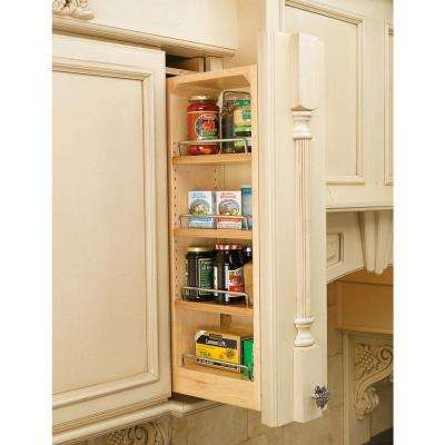 30 in. H x 6 in. W x 11.13 in. D Pull-Out Between Cabinet Wall Filler