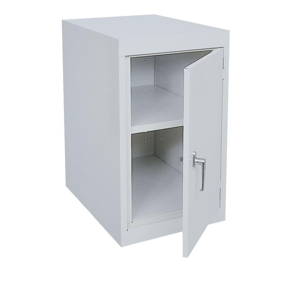 18 in. W x 30 in. H x 24 in. D Freestanding Steel Cabinet in Dove Gray