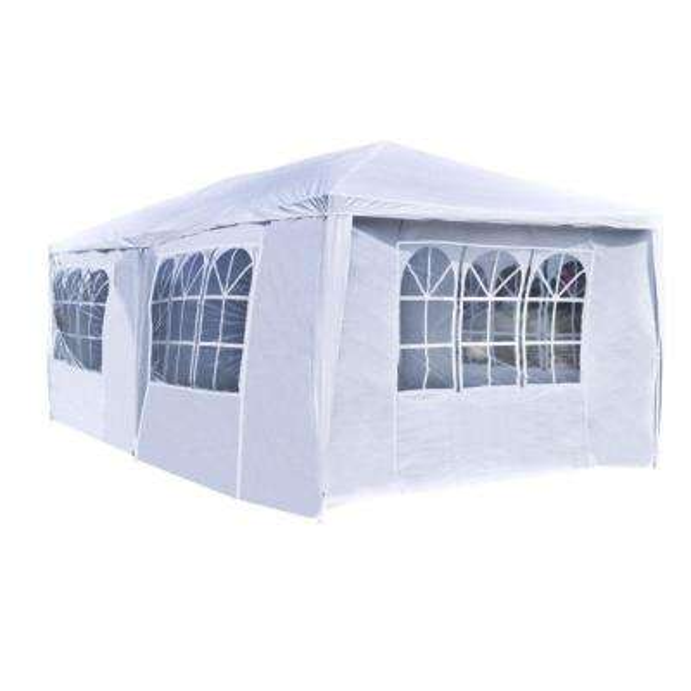 10 ft. x 20 ft. x 8.2 ft. White Roof Polyethylene Tent