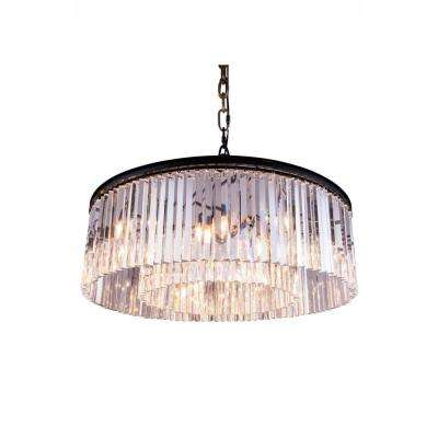 Sydney 10-Light Mocha Brown Chandelier with Clear Crystal