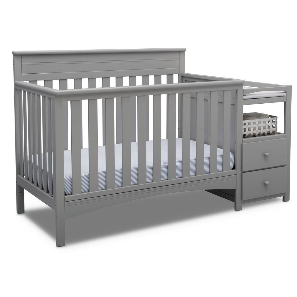 Presley Grey Convertible Crib and Changer