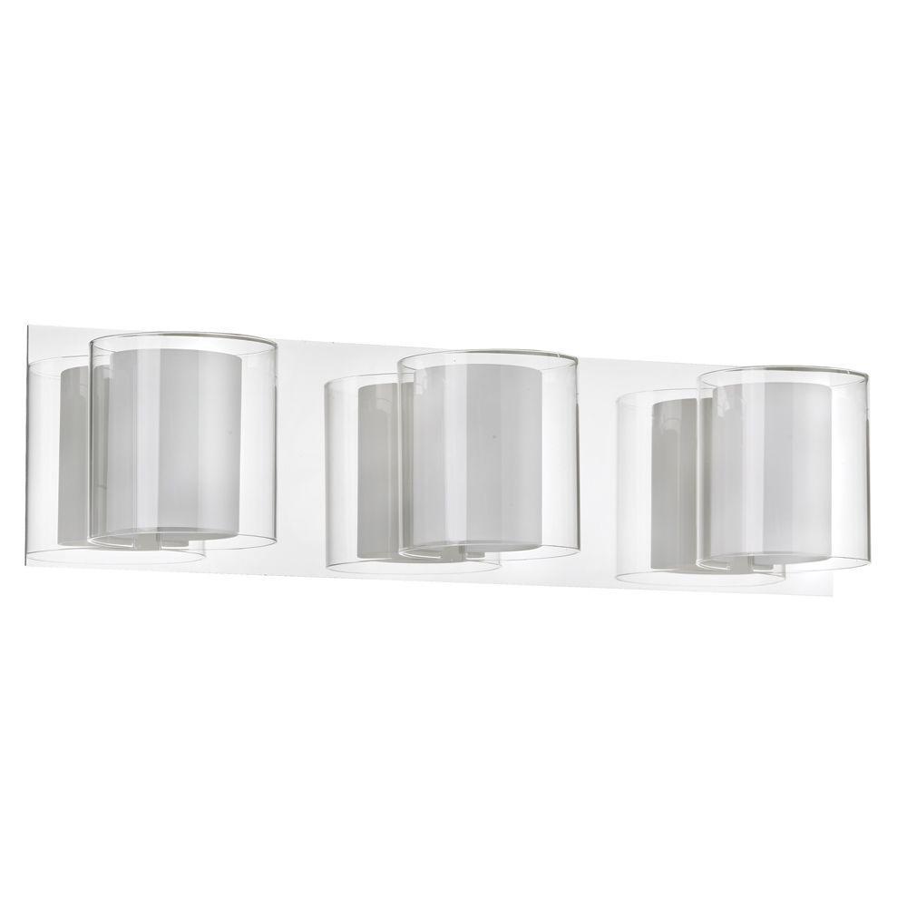 Filament Design Catherine 3-Light Polished Chrome Bath Vanity Light