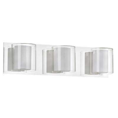 Catherine 3-Light Polished Chrome Bath Vanity Light