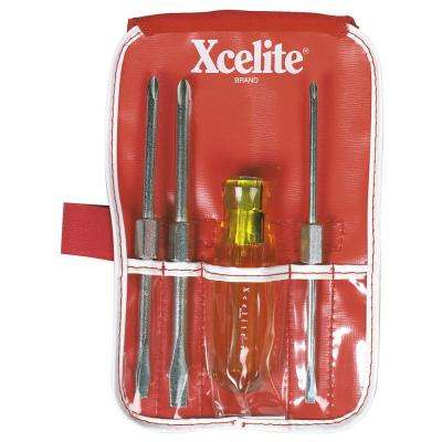 Pocket Roll Screwdriver Set (4-Piece)