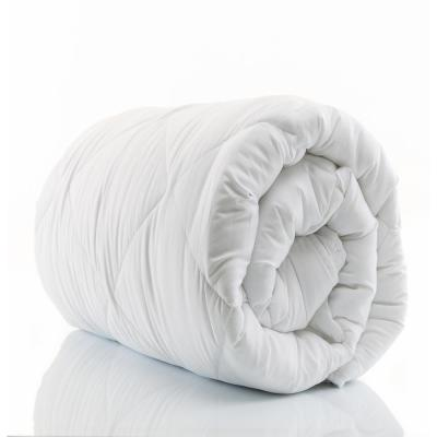 A1HC 68 in. x 86 in. Microfiber Down Alternative Solid White Box Pattern 100% Organic Cotton Twin Duvet Insert