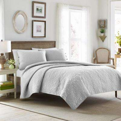 Felicity 3-Piece Grey King Quilt Set