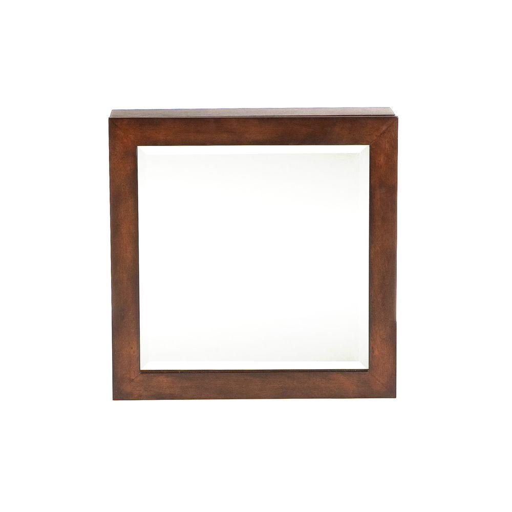 Southern Enterprises 18 in x 5.25 in x 18 in Espresso Square Wall Mount Jewelry Armoire