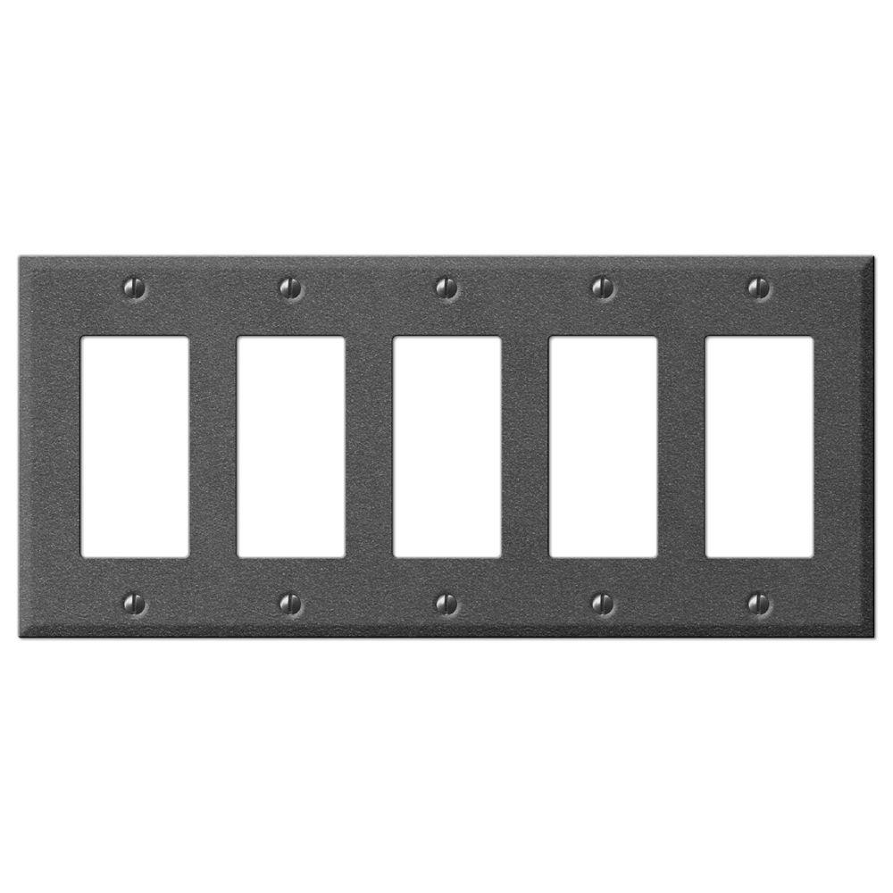 Creative Accents Steel 5 Decora Wall Plate - Antique Pewter
