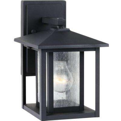 Hunnington 1-Light Outdoor Black Wall Mount Fixture