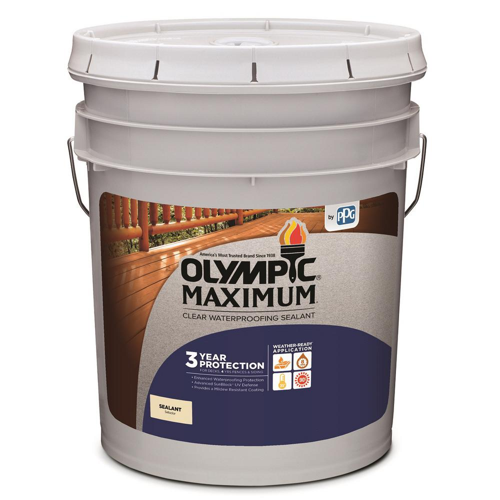 Olympic Maximum 5 gal. Clear Exterior Waterproofing Sealant