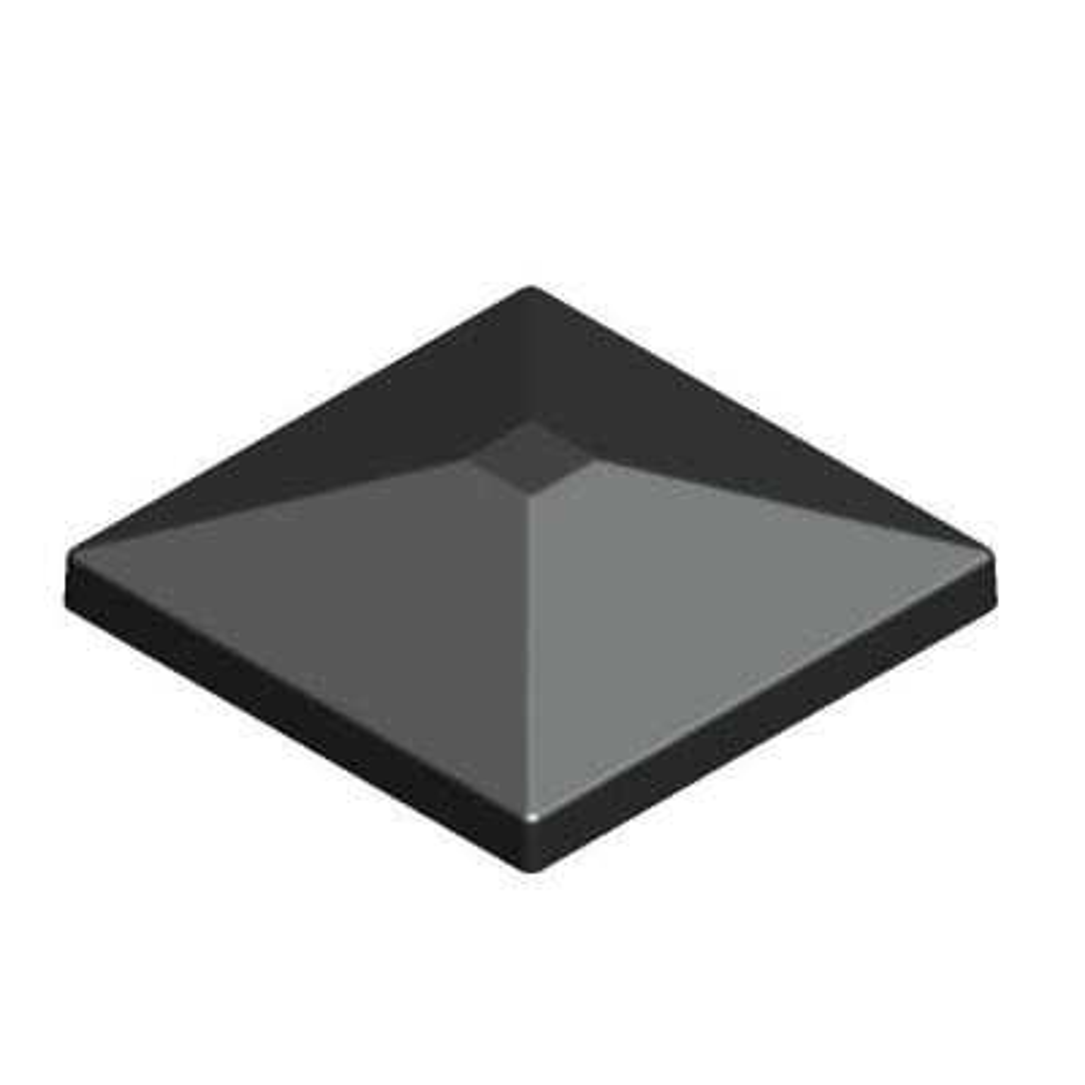 3.5 in. x 3.5 in. Aluminum Black Pyramid Post Top