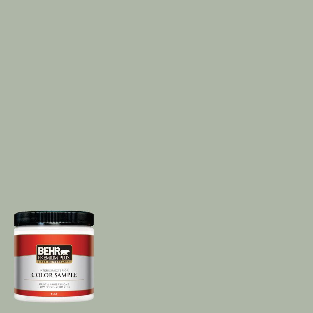 Icc 56 Green Tea Flat Interior Exterior Paint And Primer In One Sample