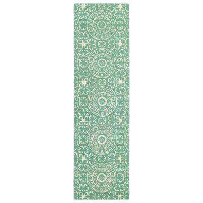 Evolution Mint 2 ft. x 8 ft. Runner Rug