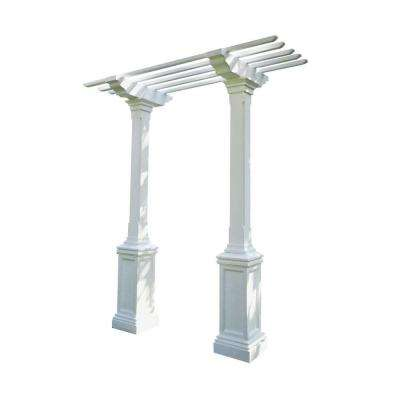 Heritage 103 in. x 36 in. Limestone Single-Beam, Maintenance-Free Arbor