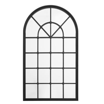 Large Arch Black Modern Mirror (50 in. H x 29 in. W)