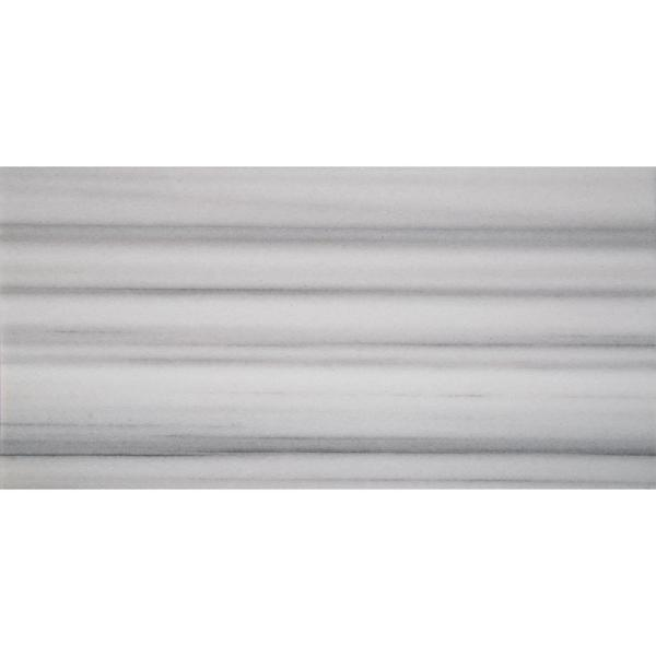 Marmara 12 in. x 24 in. White Polished Marble Floor and Wall Tile (10 sq. ft./case)