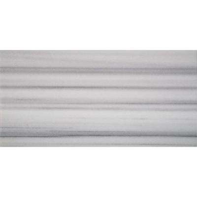 Marmara White 12 in. x 24 in. Polished Marble Floor and Wall Tile (10 sq. ft. / case)