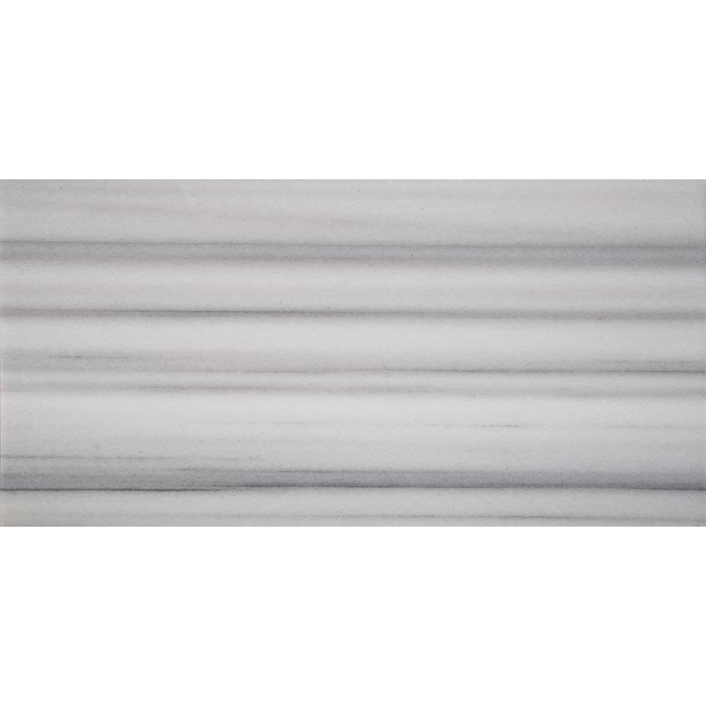MSI Marmara 12 in. x 24 in. White Polished Marble Floor and Wall Tile (10 sq. ft./case)