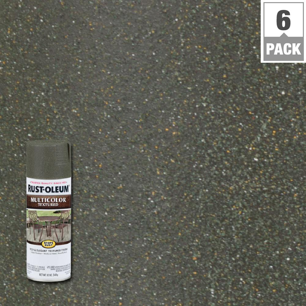 12 Oz Multicolor Textured Deep Forest Protective Spray Paint
