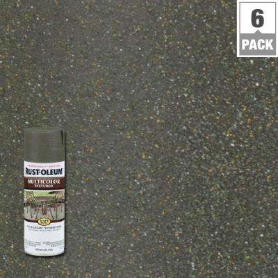 12 oz. MultiColor Textured Deep Forest Protective Spray Paint (6-Pack)