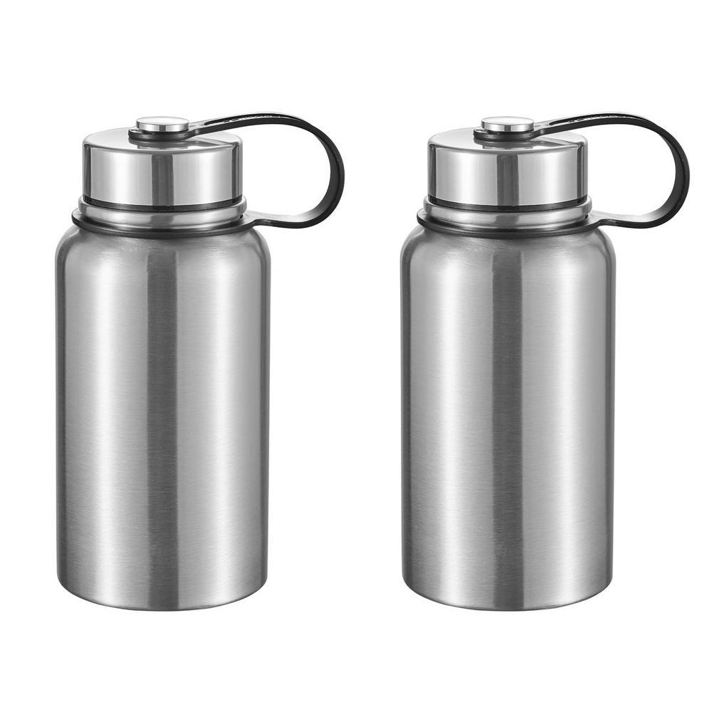 Seeder 20 oz. 2-Piece Gray Vacuum Stainless Steel Water Bottle