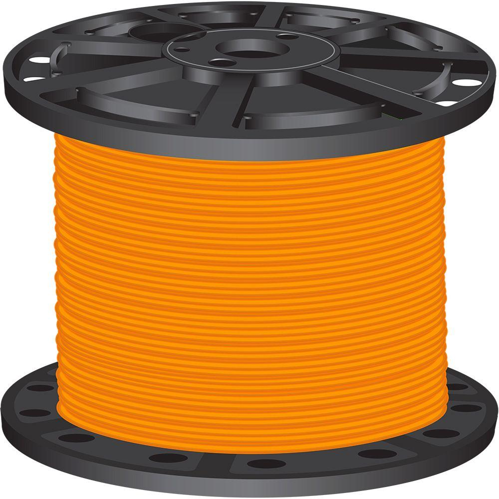 Solid - Orange - Building Wire - Wire - The Home Depot